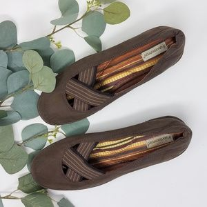 GRASSHOPPER Ortholite Canvas Slip On Brown Comfort